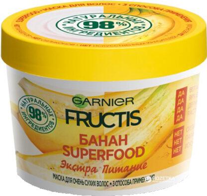 Garnier Fructis Банан Экстра Питание Маска для волос 390 мл
