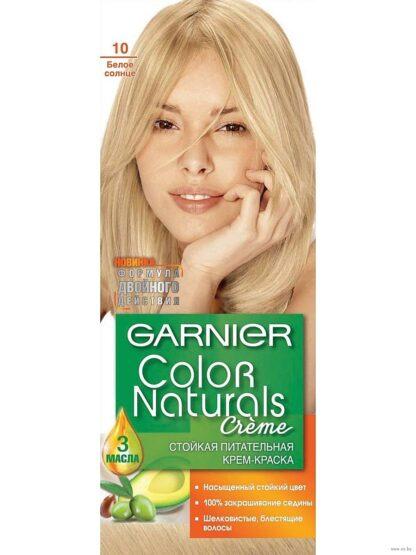 Garnier Color Naturals 10 белое солнце крем-краска для волос