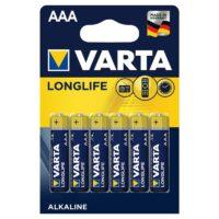 Varta Longlife LR03 4103 BL-6 щелочные мизинчиковые батарейки (цена за 1 шт)