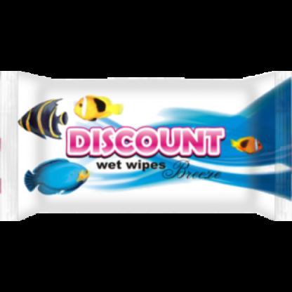 Discount Морская свежесть Салфетки влажные 15 шт