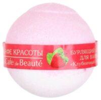 Кафе Красоты Клубничный сорбет Бурлящий шар для ванны 120 гр