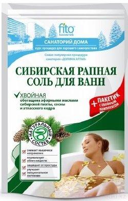 Fito Санаторий дома Хвойная Сибирская рапная Соль для ванн 530 гр