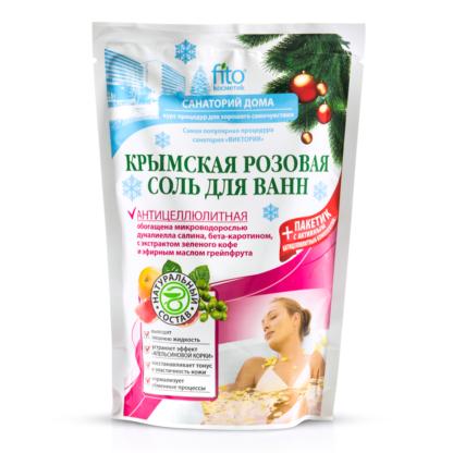 Fito Санаторий дома антицеллюлитная Крымская розовая Соль для ванн 530 гр