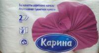КАРИНА 2-х слойная туалетная бумага 8 рулонов