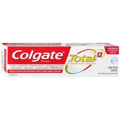 Colgate Total 12 Чистая мята Комплексное действие Зубная паста 75 мл