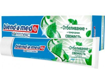 Blend a med комплекс Мята и эвкалипт отбеливание и свежесть Зубная паста 100 мл