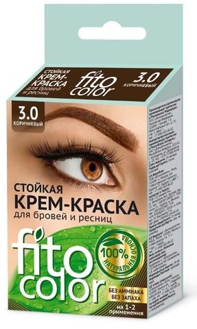 Fitocolor Крем-краска для бровей и ресниц 3