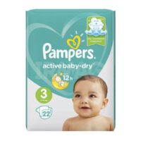 Pampers active baby-dry подгузники 3 (6-10 кг) 22 шт