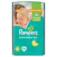 Pampers active baby-dry подгузники 6 (13-16 кг) 16 шт