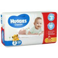 Huggies Classic подгузники 3 (4-9 кг) 58 шт