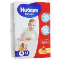 Huggies Classic подгузники 4 (7-18 кг) 68 шт