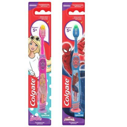 Colgate супермягкие щетинки на присоске 5+ детская Зубная щетка