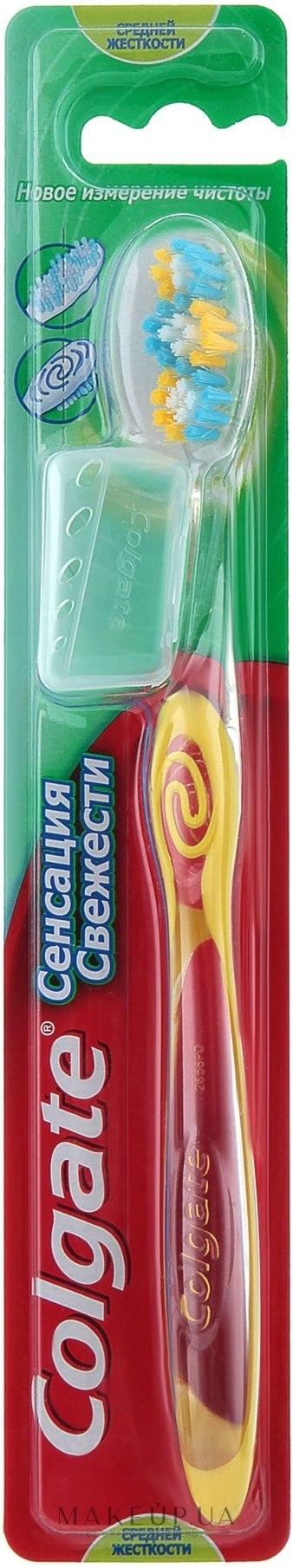 Colgate сенсация свежести средней жесткости Зубная щетка