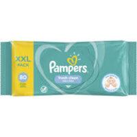 Pampers fresh clean Влажные салфетки  80 шт