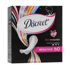 DISCREET Deo Irresistible ежедневные прокладки 60 шт