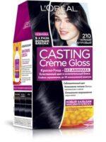 Loreal CASTING Cremе Gloss 210 черный перламутровый краска-уход для волос