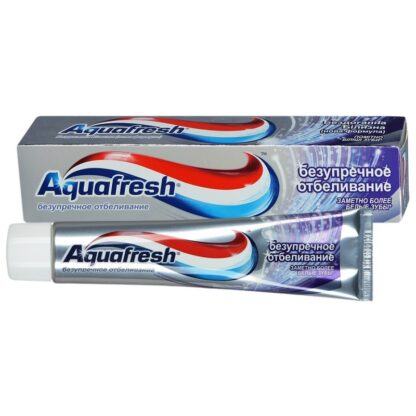 Aquafresh безупречное отбеливание зубная паста 100 мл