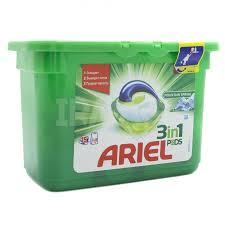 ARIEL Горный родник средство жидкое в растворимых капсулах для стирки белья 15 шт