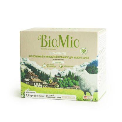 Bio Mio Bio-White без запаха универсальный экологичный стиральный порошок 1