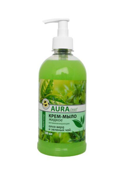 AURAclean Алоэ Вера и зеленый чай Витаминизирующее жидкое Крем-Мыло 500 мл