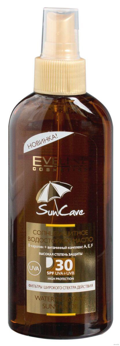 Eveline cosmetics Sun Care SPF30 Водостойкое солнцезащитное масло 150 мл