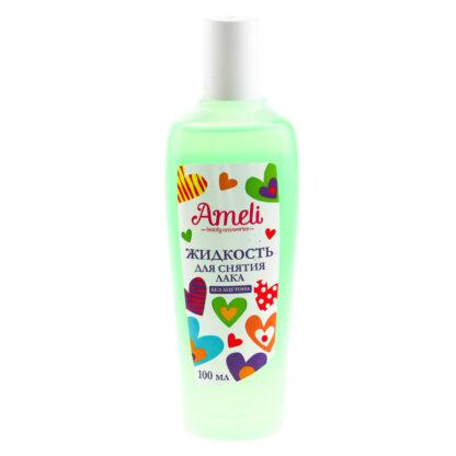 Ameli без ацетона Жидкость для снятия лака 100 мл