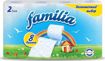 Familia 2-х слойная Туалетная бумага 8 рулонов