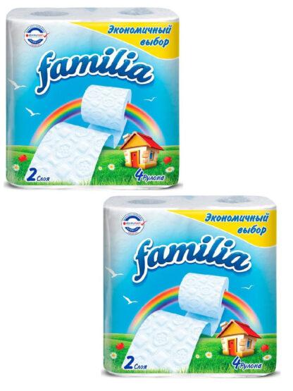 Familia 2-х слойная Туалетная бумага 4 рулона