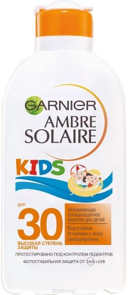 GARNIER Ambre Solaire KIDS Солнцезащитное молочко для детей SPF 30 200 мл