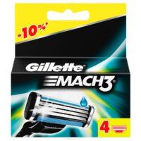 Gillette Mach3 Сменные кассеты 4 шт