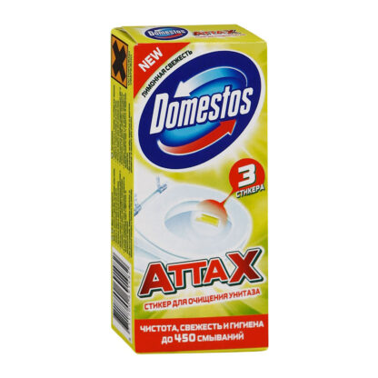 Domestos Лимон Cтикер для очищения унитаза 3*10 гр
