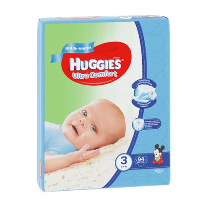 Huggies Ultra comfort подгузники для мальчиков 3 (5-9 кг) 94 шт