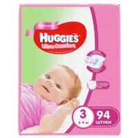 Huggies Ultra comfort подгузники для девочек 3 (5-9 кг) 94 шт