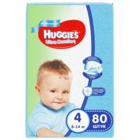 Huggies Ultra comfort подгузники для мальчиков 4 (8-14 кг) 80 шт