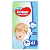 Huggies Ultra comfort подгузники для мальчиков 4+ (10-16 кг) 68 шт