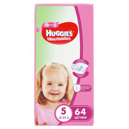 Huggies Ultra comfort подгузники для девочек 5 (12-22 кг) 64 шт