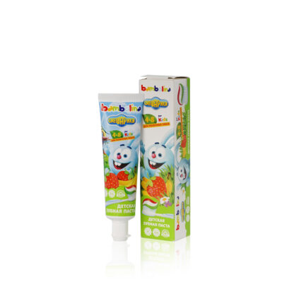Bambolina for kids Смешарики со вкусом банана и клубники 4-8 лет детская зубная паста 50 мл