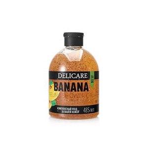 DELICARE BANANA с натуральным экстрактом гель-пилинг для душа 485 мл