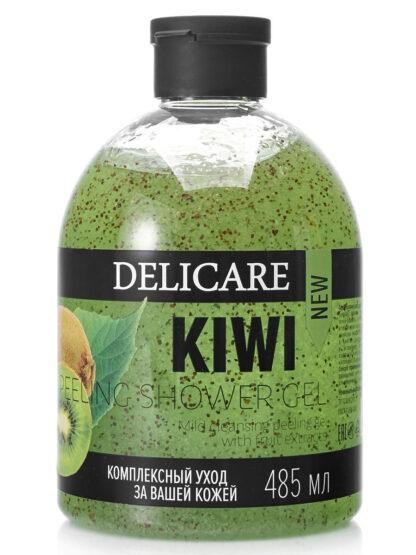 DELICARE KIWI с натуральным экстрактом гель-пилинг для душа 485 мл