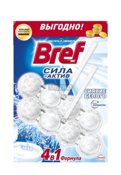 Bref Сила-Актив Белоснежный Чистящее средство для унитаза 2*50 г