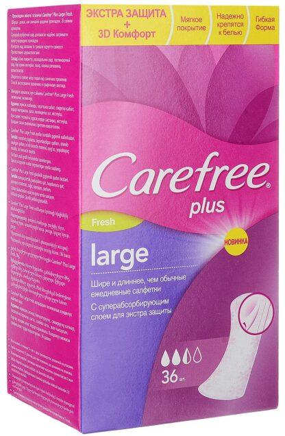 Carefree plus large Fresh ежедневные Прокладки 36 шт