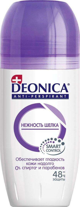 DEONICA Нежность шелка 48 часов защиты ролик дезодорант 50 мл
