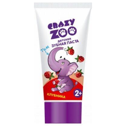 Crazy Zoo Клубника детская Зубная паста 50 мл