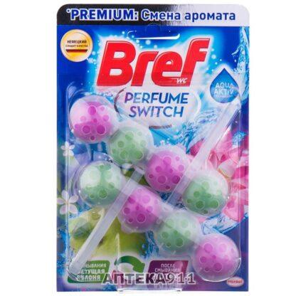 Bref Perfume Switch цветущая яблоня Чистящее средство для унитаза 2*50 г