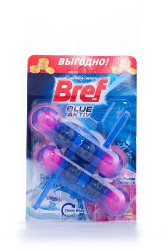 Bref COLOR-Актив Цветочная свежесть Чистящее средство для унитаза 2*50 г
