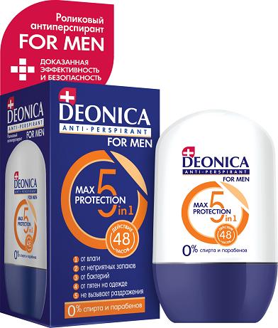 DEONICA MEN MAX Protection ролик дезодорант 45 мл
