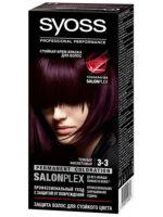 Syoss 3-3 тёмный фиолетовый крем-краска для волос