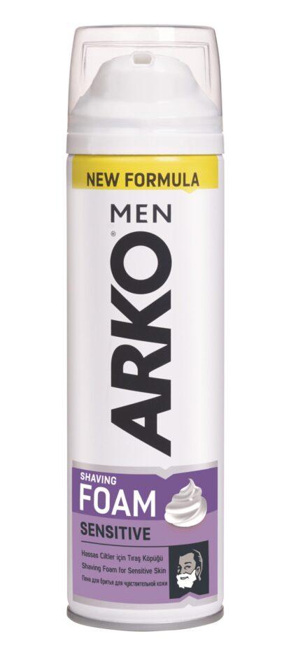 ARКО Sensitive для чувствительной кожи Пена для бритья 200 мл