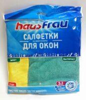 Haus Frau набор из микрофибры 35*35 см салфетки для окон 2 шт