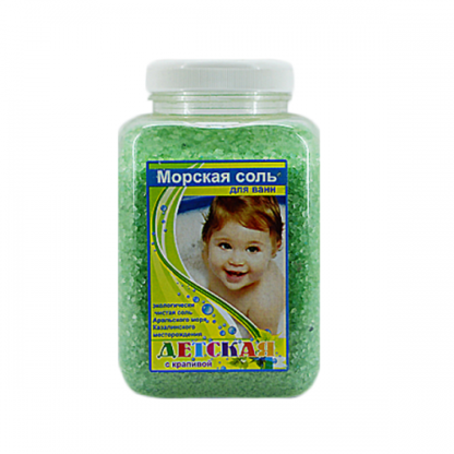 Aromika Детская Морская с крапивой соль для ванны 900 г